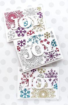 Holiday Card Series – Day 17 – Glitter Snowflake Diecuts – kwernerdesign blog