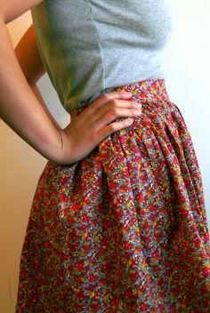 diy floral full skirt | & other things
