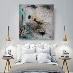 Title of the Original Watercolor Abstract Painting: Calm After The Storm by Fine Artist Julia Apostolova  Read about me here: https://www.etsy.com/shop/JuliaApostolova/about?ref=shopinfo_about_leftnav  PRINT ON 100% COTTON CANVAS Professionally printed in Professional Print Pab. All prints are signed and dated by the artist Julia Apostolova.  TITLE: Calm After The Storm PRINT SIZES: 24 x 24 36 x 36 40 x 40 45 x 45  If you need a different size, please contact with me.  THIS PRINT COMES…