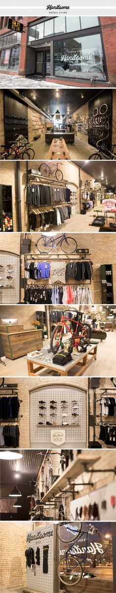 Beautiful bike shop: Handsome Cycles / Retail Store designed by Joe Anderson, Meenal Patel and Marina Groh [KNOCK inc]