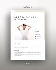 creative Resume Template 5 page / CV Template + Cover Letter Cv Template Word, Cv Resume Template, Resume Cv, Creative Resume Templates, Card Templates, Resume Format, Microsoft Word, Png Icons, Job Interview Outfits For Women