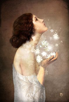 """From our hearts springs the magic of our desires..."" ~Becky RIngler Artwork: Christian Schloe - ""Wish"""