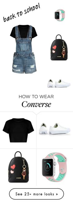 """back-to-school shopping"" by explorer-14697201715 on Polyvore featuring Converse, Love Moschino and BackToSchool"