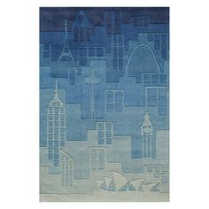 Momeni Lil Mo Hipster LMT11 Area Rug - Blue, Size: 2 x 3 ft.