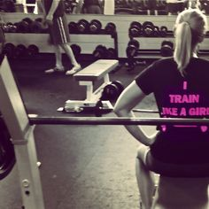 Train like a girl. Tanks and tees at http://hopenagy.com/motivatehopestrength___hope_nagy/Tanks&Tees.html #fitness #gym #workout #exercise #gym