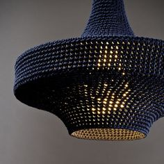 crochet pendant lamps by Naomi Paul