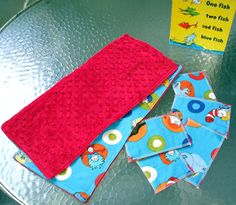 Burp Towels 2 and Swipers 5 Set  Dr. Seuss by kreationsbykona
