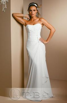 Empire Strapless Cathedral train  wedding dress for brides 2010 style(WDA1415 $88.19