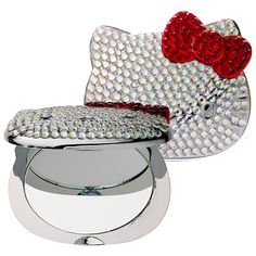 Feature: A collectible Hello Kitty-shaped compact mirror that sparkles in bling with nearly 300 hand-placed jewels in honor of Hello Kitty's Anniversary. Featuring Hello Kitty's ic… Hello Kitty Makeup, Hello Kitty Items, Hello Kitty Collection, Make Up Collection, Sephora, Princesa Elizabeth, 40th Anniversary, Compact Mirror, Sanrio