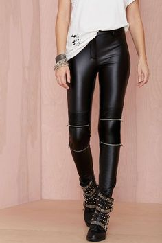 Bad Company Vegan Leather Leggings