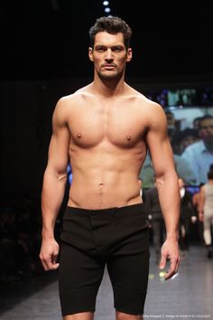 Image detail for -MILAN, ITALY - JANUARY 16: Model David Gandy walks the runway during the Dolce & Gabbana Milan Menswear Autumn/Winter 2010 show on January 16, 2010 in...