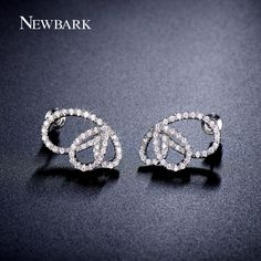Find More Stud Earrings Information about NEWBARK Brilliant Butterfly Shaped…