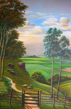 paisajes-colombianos-del-campo-pintados-al-oleo. Mucho más sobre nuestra hermosa Colombia en www.solerplanet.com