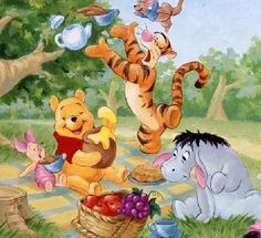 The Fab Five in the 100 Acre Wood