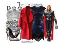 Thor by leslieakay on Polyvore featuring polyvore, fashion, style, Kendall + Kylie, Miss Selfridge, Bottega Veneta, clothing, disney, disneybound and disneycharacter