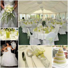 Green wedding collage