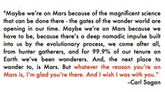 Carl Sagan's message to future explorers of Mars