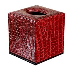 Creative Cute Leather Tissue Box Holder Alligator Pattern Winered *** To view further for this item, visit the image link.