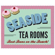 Seaside Tea Rooms Poster Print Canvas