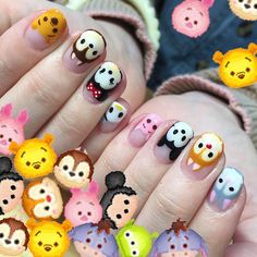 Beautiful nail art designs that are just too cute to resist. It's time to try out something new with your nail art. Fancy Nails, Love Nails, Diy Nails, Pretty Nails, Nail Nail, Disney Nail Designs, Cute Nail Designs, Nails For Kids, Girls Nails