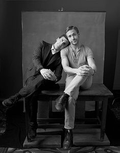Steve Carell and Ryan Gosling would for be great for father and son senior photo