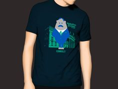 Mens James Connolly GPO Character T-Shirt Navy #Connolly #GPO #t shirts