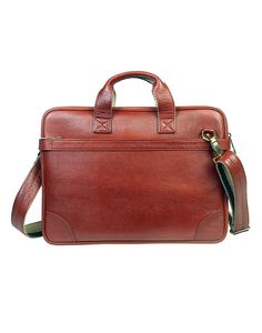 JL Collections Men's 16.5 Inches Leather Messenger Executive Bag for Laptop Briefcase Satchel Bag Medium Tan