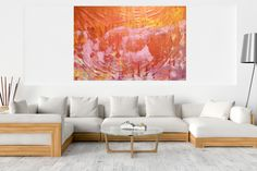 Endless possibilities - XXL golden and pink abstract - Ivana Olbricht Beneath The Surface, Pink Abstract, Golden Color, Abstract Styles, Shades Of Purple, Acrylic Painting Canvas, Blinds, Artwork, Acrylics