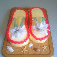 Amy & Nikki's Hawaiin party cake
