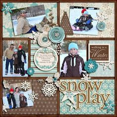 Scrapbook Layout | Scrapbooking with Multiple Photos | 12X12 Page | Scrapbooking Ideas | Creative Scrapbooker Magazine #scrapbooking #multiplephotos
