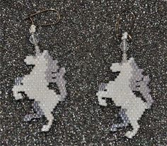 Unicorn Earrings by HandMadeBeadedCrafts on Etsy, $12.00