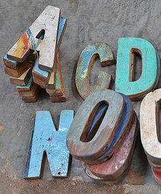 Recycled Wood Letters (cute for dorm decor or a kids room!)