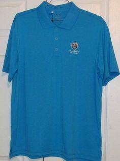 Adidas Pure Motion Men's Golf Shirt, L, Blue, 100% Polyester, NWT #AdidasGolf