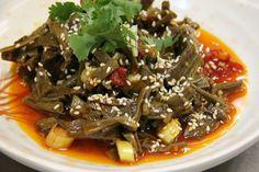 Lao Hunan, Chinatown. Jade Tofu, Hunan-style eggplant, pea pod leaves, Singapore noodles