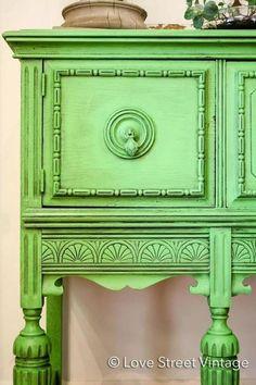 Black Chalk Paint® Wax over Antibes Green