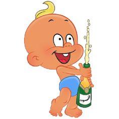 Baby Boy Party - Funny Baby Clip Art