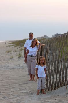 Sweet family photo of an Emerald Isle vacation - original pin by Mel Flood Forman.