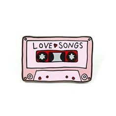 Put a little love in your heart with our love songs mixtape pin. Details Hard Enamel Lapel Pin Valley Cruise red rubber clutch backing Designed by Abby Galloway Tumblr Stickers, Cute Stickers, Printable Stickers, Jacket Pins, Aesthetic Stickers, Cool Pins, Pin And Patches, Pin Badges, Retro