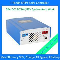 CE RoHS 50A 48V hybrid controller 12V 24V 48V 50A MPPT regulator for solar  enegery system