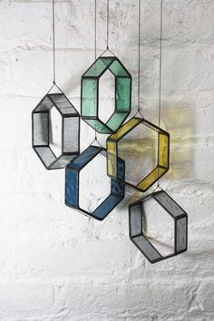 Bespoke Glass Elements are sets of stained glass pieces that are more flexible than your average stained glass window. The idea for the Elements