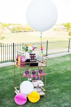 Bar Cart: Mother's Day brunch isn't complete without a well-stocked bar. This mimosa bar cart has everything she could ever want: Sparkling wine or champagne, different juice options, fresh fruit slices, and glasses. (via Kara's Party Ideas)