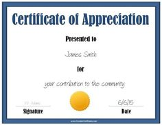 Free certificate of appreciation sample blank certificate of blue certificate of appreciation template with a gold award ribbon pronofoot35fo Gallery