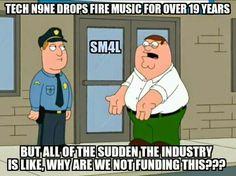 Tech N9ne meets Family Guy, lol... Peter gets it. ^S^❤