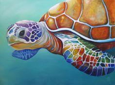 Sea Turtle Painting, Sea Turtle Art, Sea Turtles, Baby Turtles, Lama Animal, Illustration Photo, Sea Life Art, Ocean Life, Arte Pop