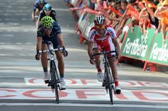 The Four Faves of The Vuelta with Alejandro Valverde winning Stage 3 and donning the leader's Red Jersey