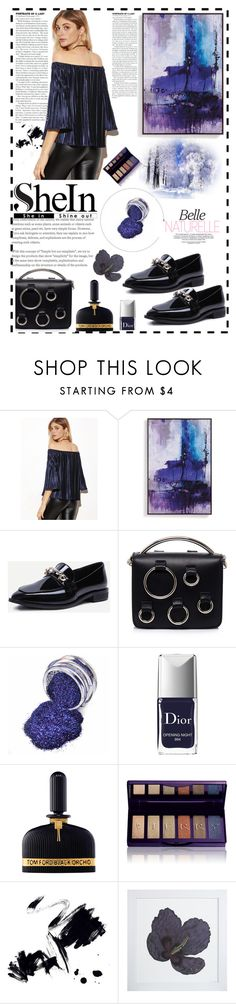 """""""Shein"""" by sonila-vl ❤ liked on Polyvore featuring beauty, Grandin Road, MSGM, Christian Dior, Tom Ford, By Terry, Marmont Hill, Natural Curiosities, navytop and shein"""