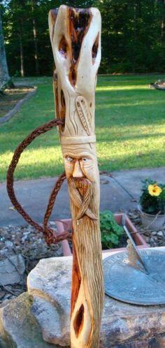 Carved Walking Stick