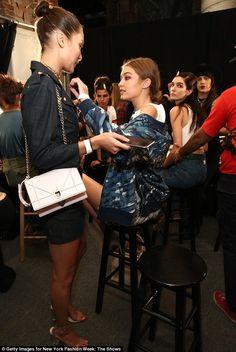 That looks better: Gigi surveyed her handiwork while an appreciative Bella lingered