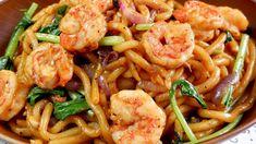 Udon Stir Fry, Shrimp Stir Fry, Shrimp Pasta, Prawn Recipes, Sauce Recipes, Asian Recipes, Healthy Recipes, Ethnic Recipes, Udon Noodles