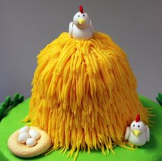 Haystack smash cake (old macdonald theme for 1st b-day)